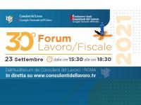 30° Forum Lavoro/Fiscale il 23 settembre